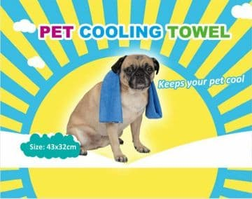 PET COOLING TOWEL - Small or Large dog cool towel - animal sports